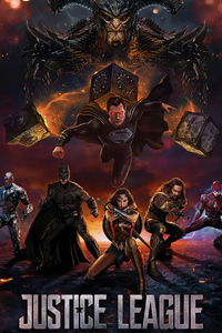1440x2960 Black Superman Justice League 2020