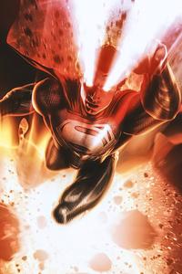 Black Superman Laser Eye