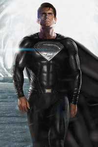 320x568 Black Superman Suit 2020