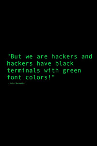 1080x1920 Black Terminals With Green Font Colors Quote