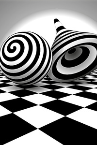 640x960 Black White Optical Illusion