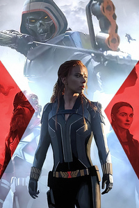 1280x2120 Black Widow 2020 Artwork