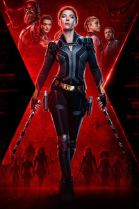 480x854 Black Widow 2020 Movie 4k Poster