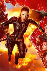 1440x2960 Black Widow 2021 Poster