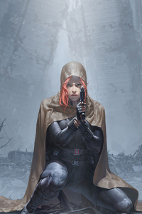 240x320 Black Widow 4k 2020 Art