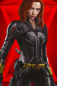 1125x2436 Black Widow 4k Poster 2020