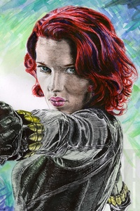 Black Widow 5k Artwork