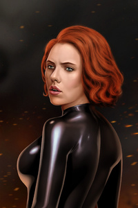 Black Widow 5k Digital Artwork