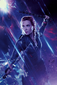 240x320 Black Widow Avengers End Game 8k