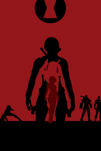 1280x2120 Black Widow Avengers Endgame 4k Minimalism