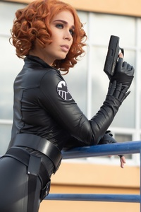 720x1280 Black Widow Cosplay 5k