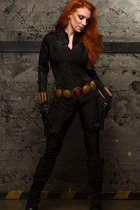 720x1280 Black Widow Cosplay Girl 4k