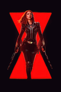 240x320 Black Widow Dark Art 5k
