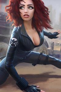 Black Widow Digital Artwork 4k
