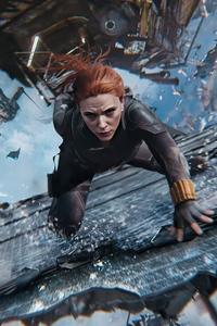 320x568 Black Widow Fight Scene 5k