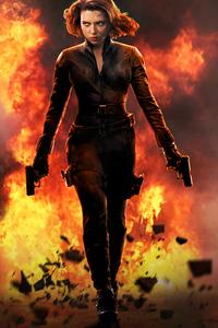 Black Widow In Action