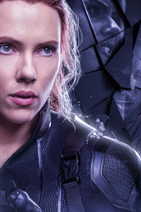 1080x2160 Black Widow In Avengers Endgame 2019 Poster