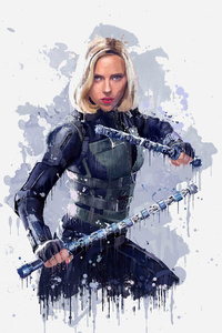 Black Widow In Avengers Infinity War 2018 4k Artwork