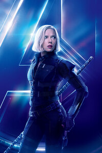 Black Widow In Avengers Infinity War New 8k Poster