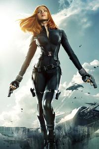 1080x2280 Black Widow In Captain America Winter Solider