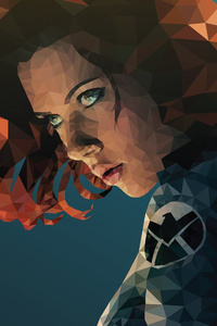 Black Widow Low Poly Art