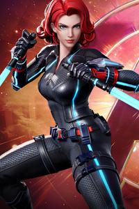 1080x1920 Black Widow Marvel Super War