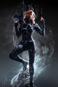 360x640 Black Widow Marvel Superhero