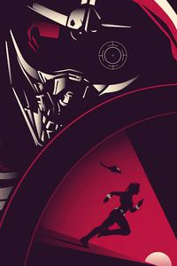 640x1136 Black Widow Minimal Movie Poster 5k