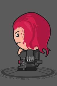 1125x2436 Black Widow Minimalist Art 4k