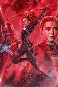 1080x2280 Black Widow New Poster Artwork