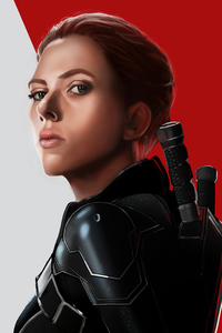 240x320 Black Widow Newartwork