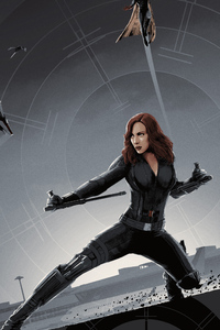 1080x2160 Black Widow Poster Art