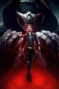 1080x1920 Black Widow Poster Design 4k
