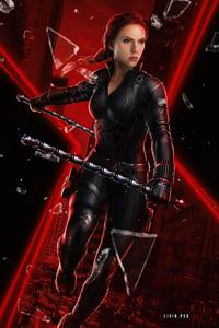 1125x2436 Black Widow Scarlett 5k
