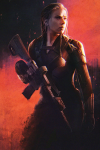 480x800 Black Widow Superhero 4k
