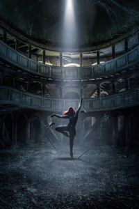 640x1136 Black Widow The Dance 4k