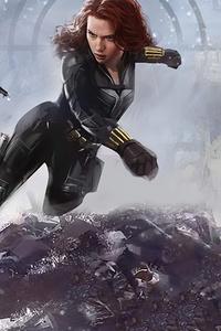 1080x1920 Black Widow V Taskmaster 4k