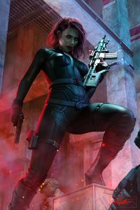 1125x2436 Black Widow With Ak47