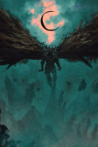 Black Wings Demon 4k
