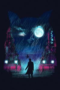 320x480 Blade Runner Digital Art 4k