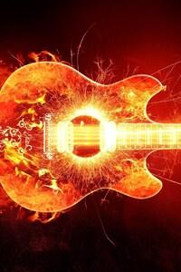 720x1280 Blazing Guitar
