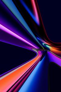 1440x2960 Blended Glass Colors 8k