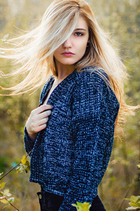 1440x2960 Blonde Beautiful Girl Hair On Face 4k