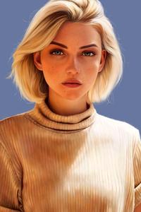 240x320 Blonde Girl 5k 2020