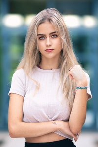 Blonde Girl Depth Of Field