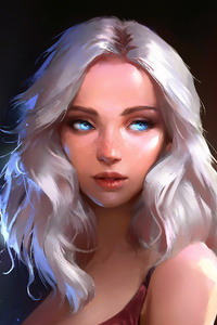 Blonde Girl Fantasy Art