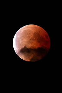 750x1334 Blood Moon During Night Time 5k