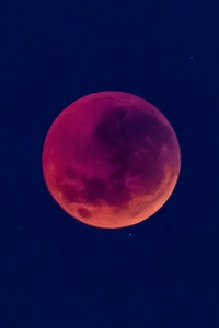480x854 Blood Red Moon In Blue Sky