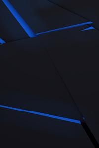 720x1280 Blue Abstract Sharp Flows 4k