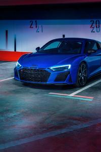 Blue Audi R8 2020